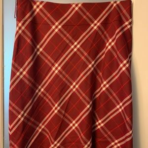 Red Burberry Skirt